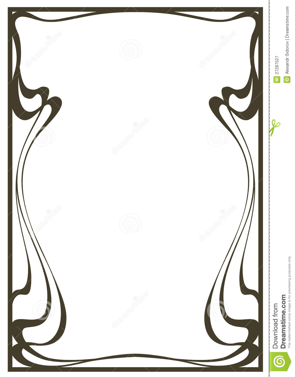 Framework In Style Art nouveau Royalty Free Stock