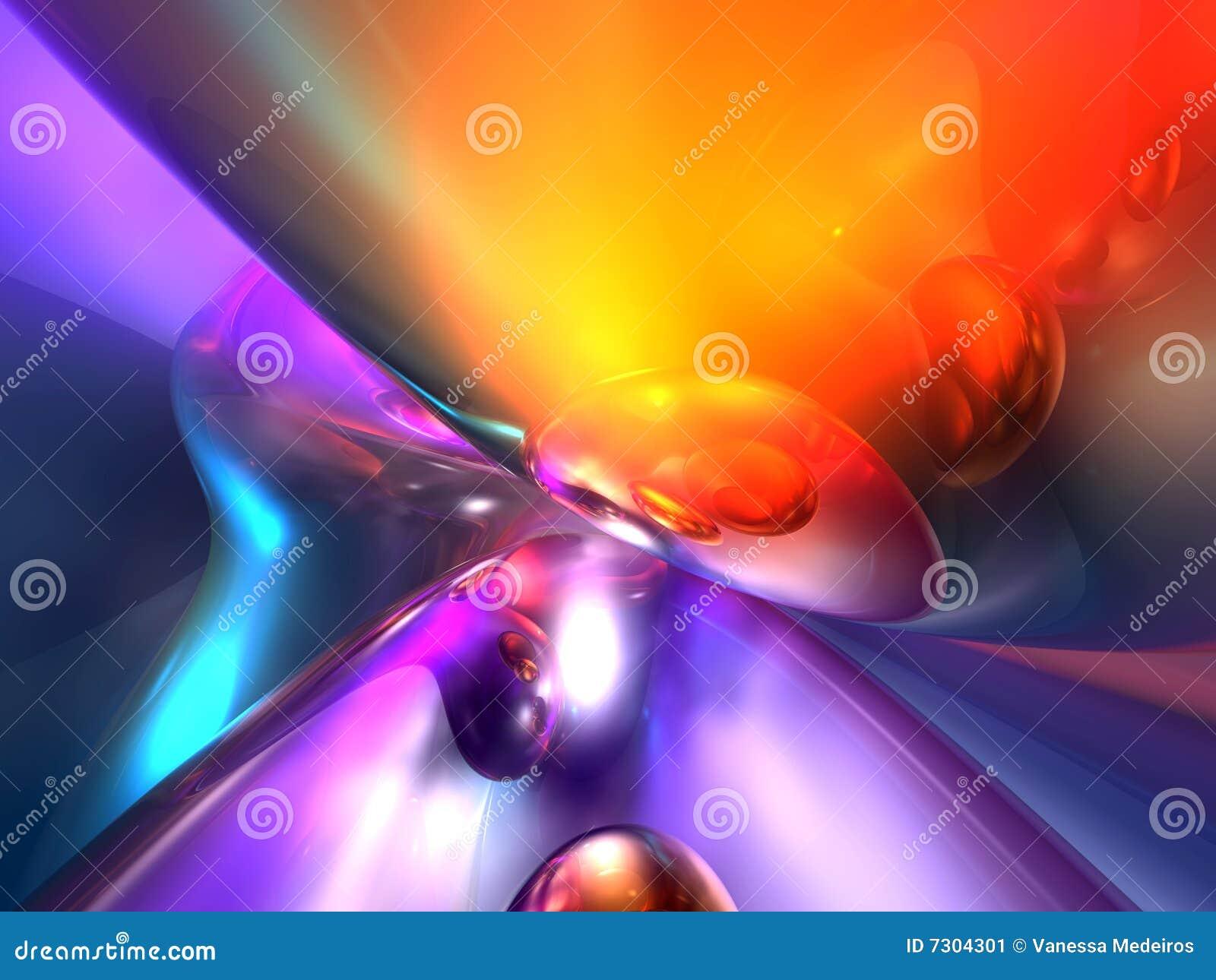 Framför glansig orange purpur red för abstrakt färg 3d