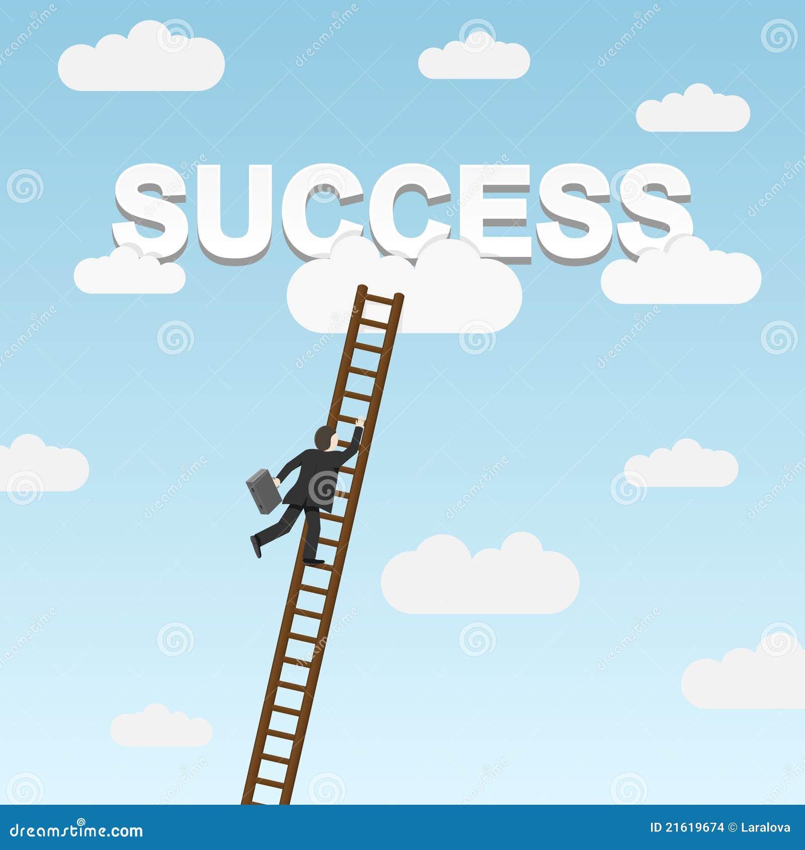 Framgång för affärsmanklättringstege till