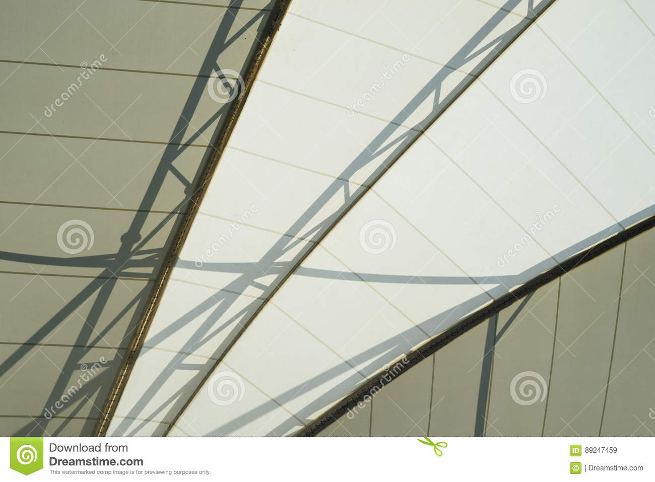 Framing in the dome roof stock image. Image of interior - 89247459