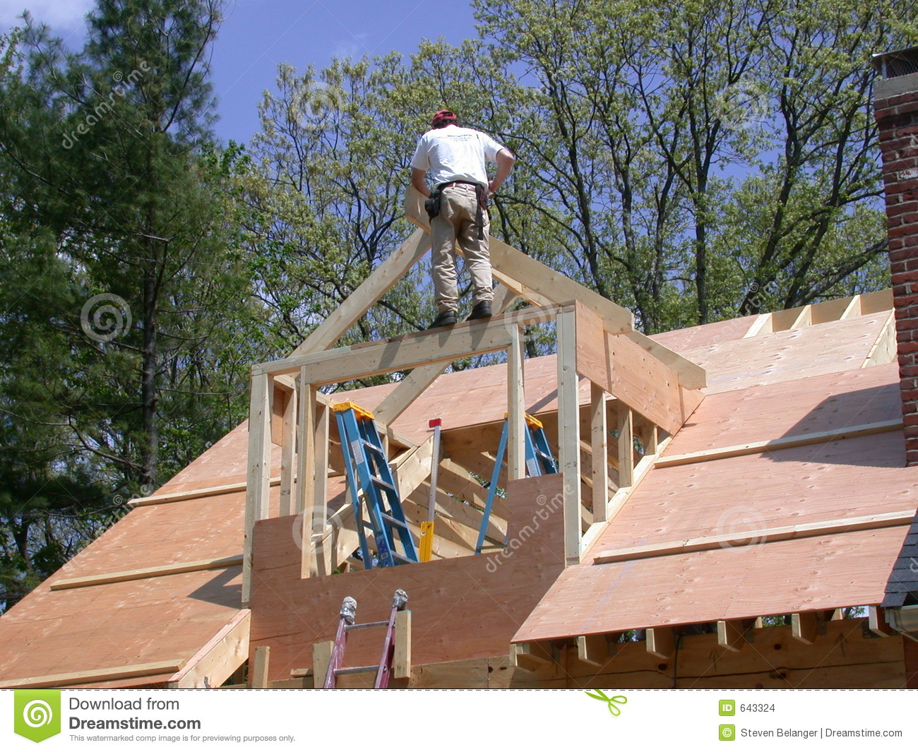Framing A Dormer Stock Photo Image Of Roof Home