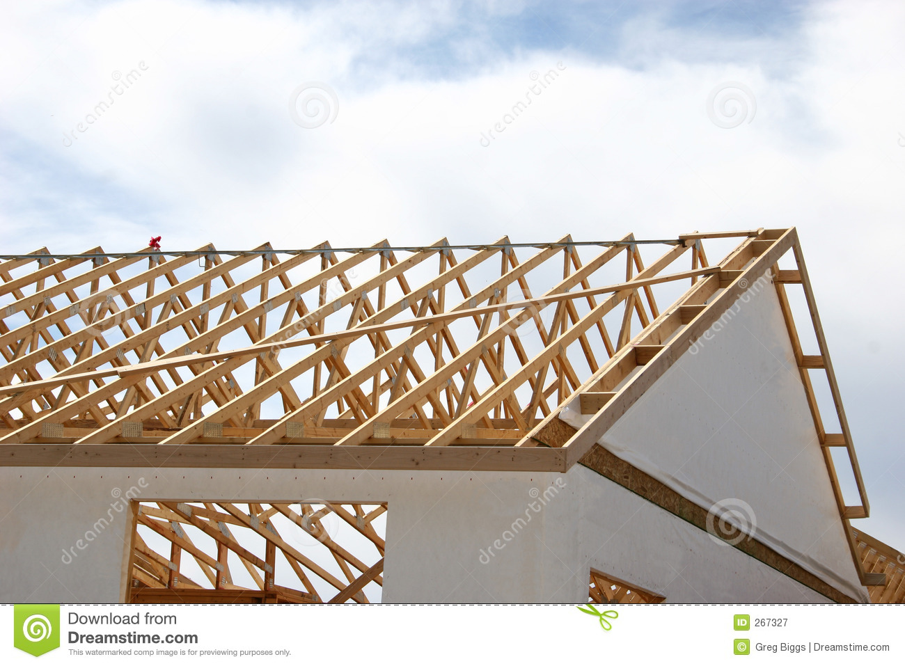 Framing a house stock image image of construction for House roof construction