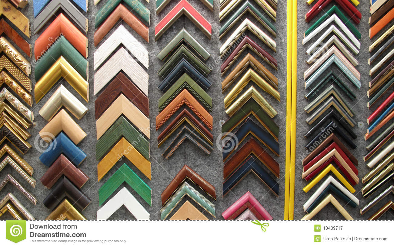 Framing Picture Frames For Paintings Stock Image - Image of window ...