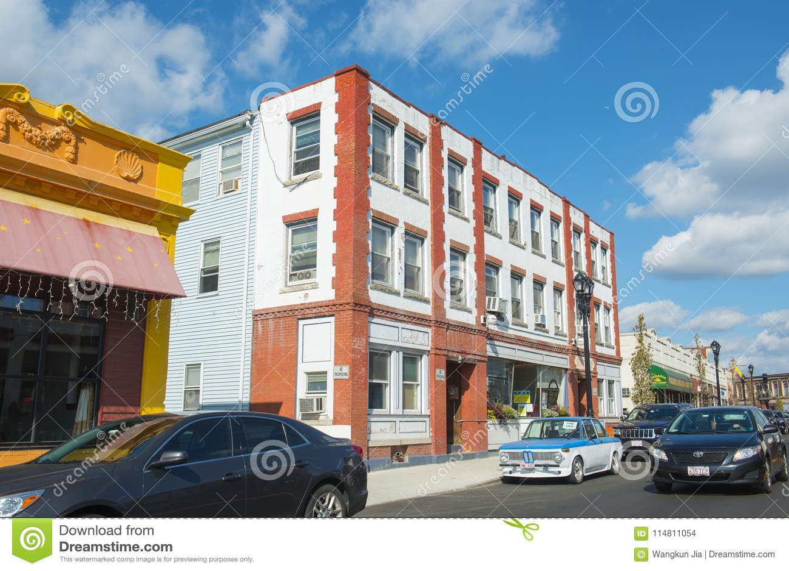 Framingham霍利斯街,马萨诸塞,美国