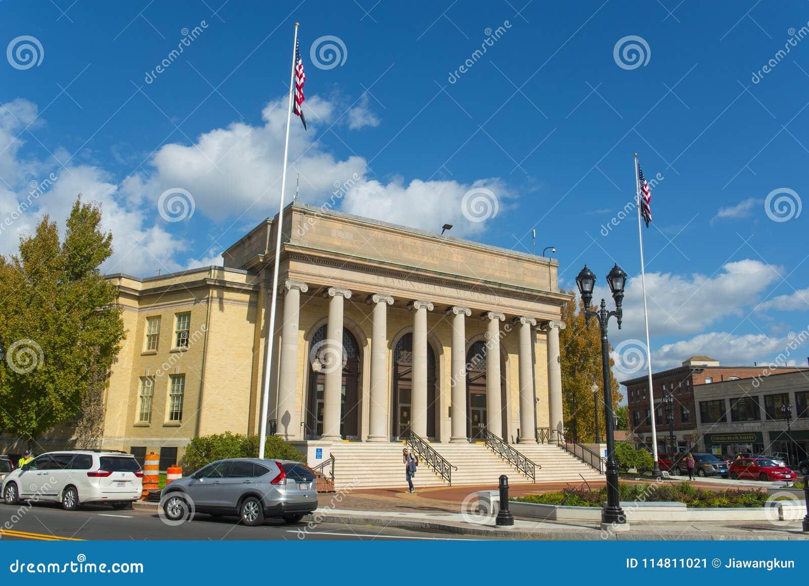 Framingham stadshus, Massachusetts, USA