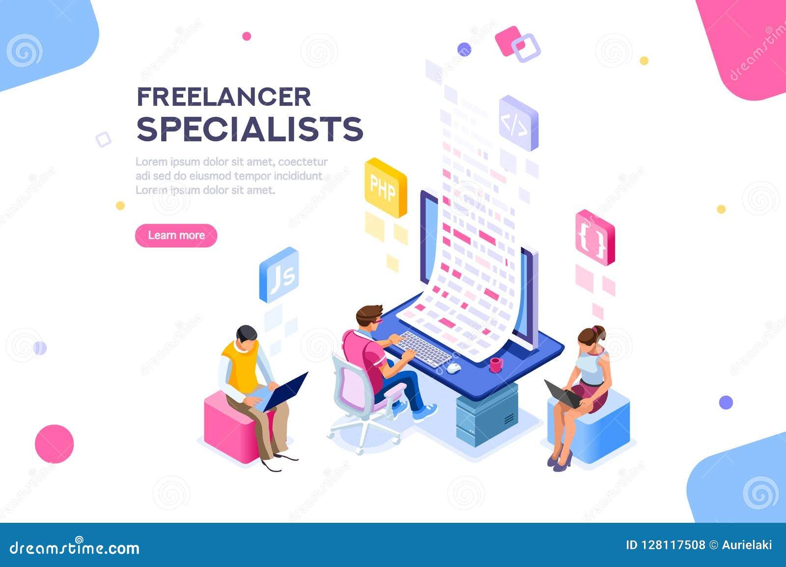 Framkallar redigerbar programvara för freelanceren mallbanret