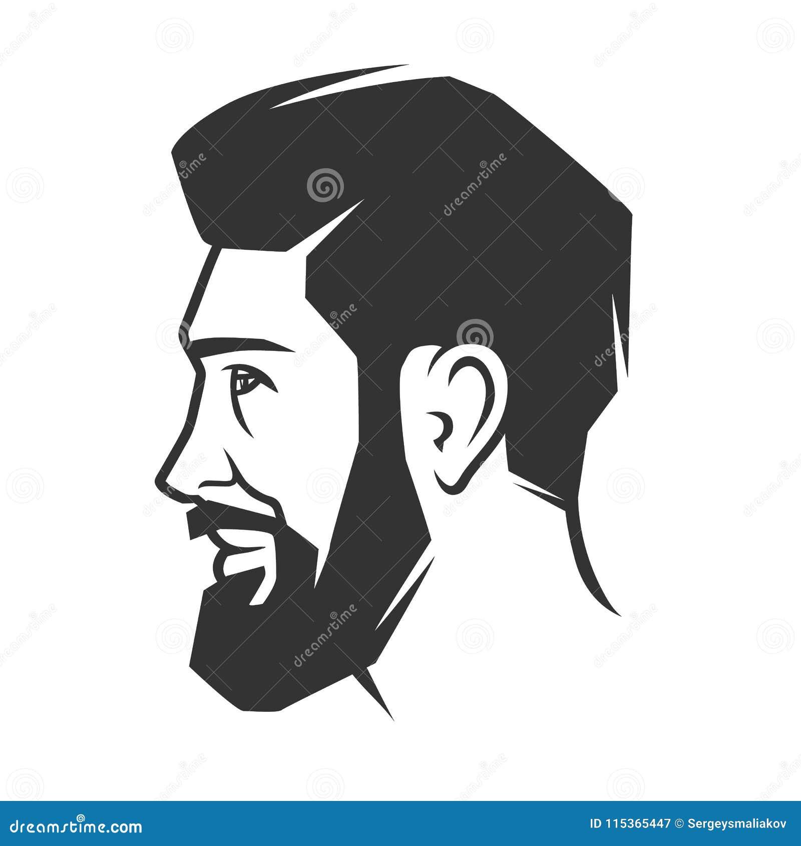Framsida för man` s med skägget