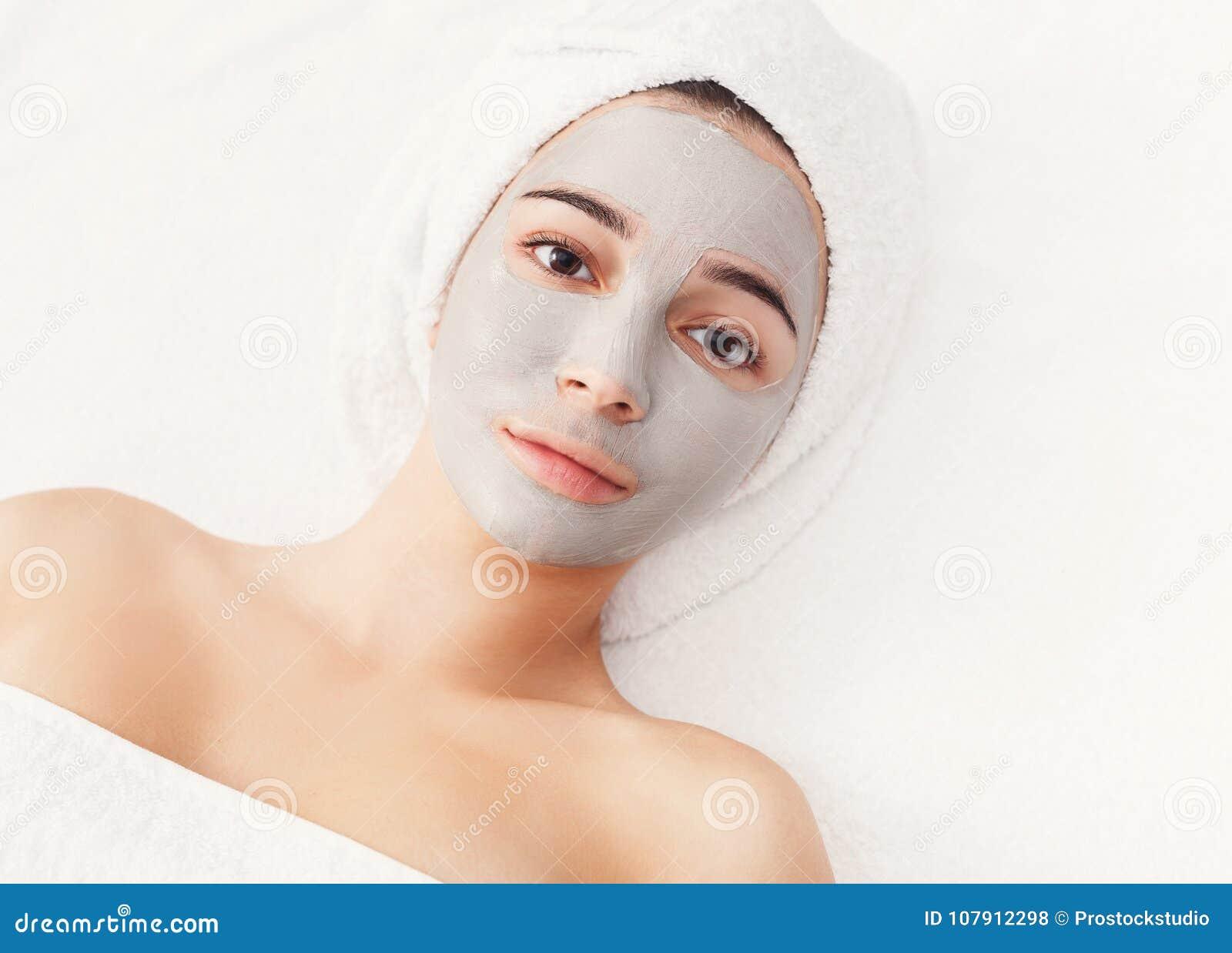 Framsidamaskering, brunnsortskönhetbehandling, skincare