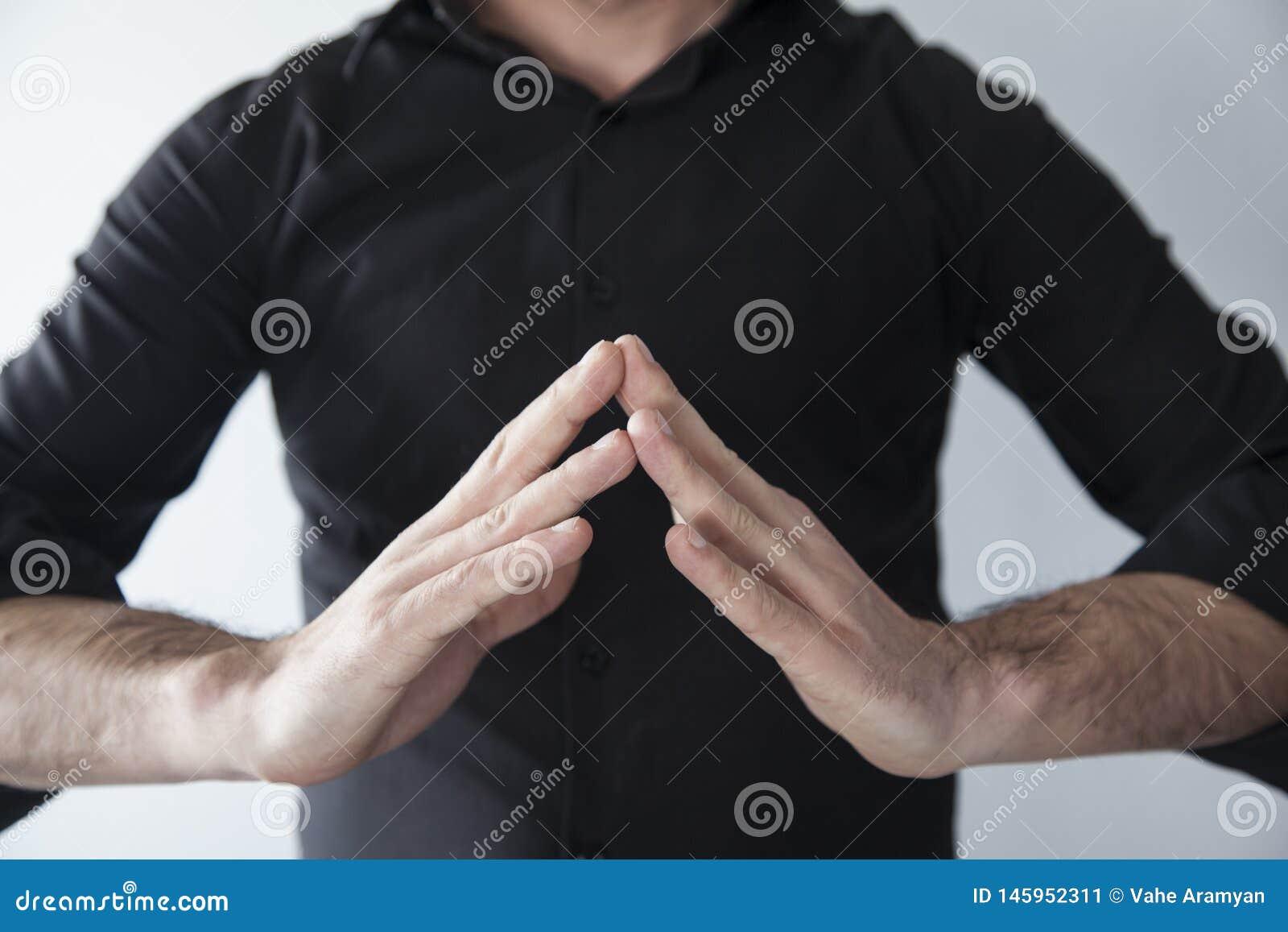 Framställning av yoga med händer
