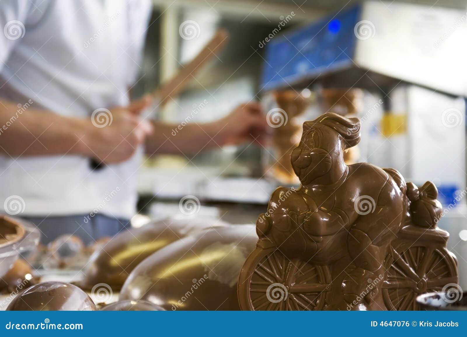 Framställning för bagerikaninchoklad