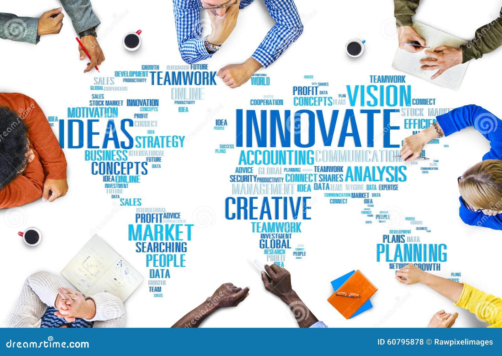 Framsteg för idéer för innovationinspirationkreativitet inför nyheter Concep