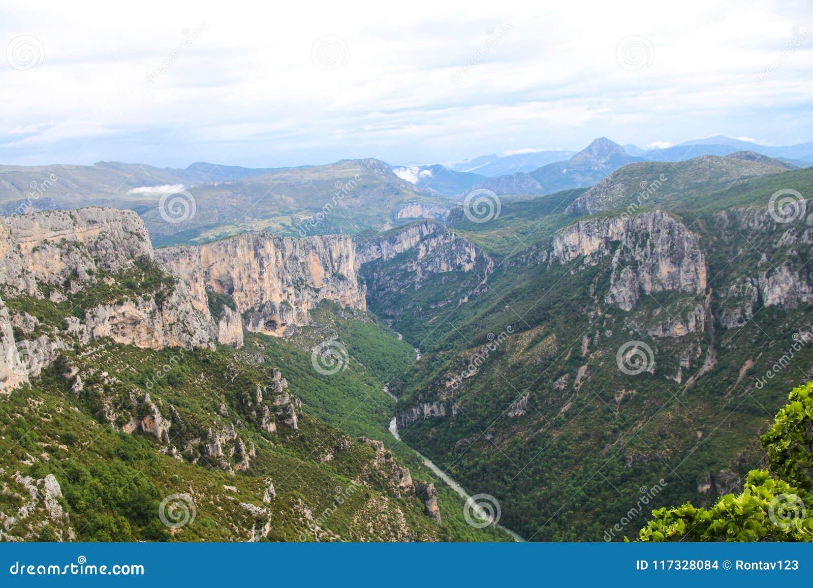 Français de canyon de Verdon : Gorges du Verdon, France du sud