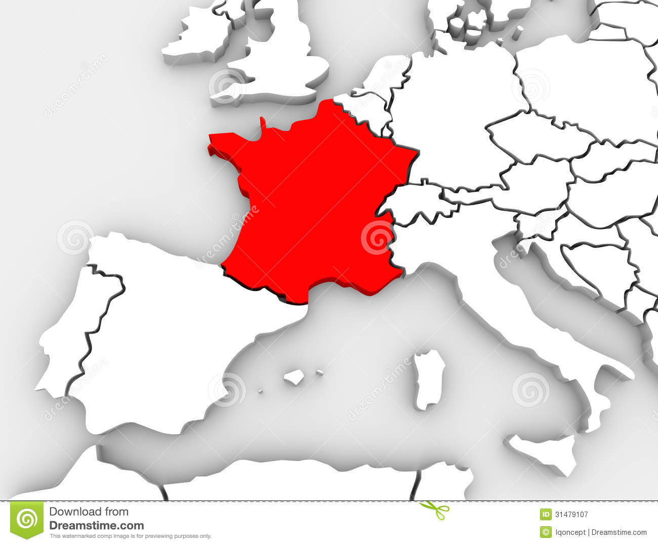 France abstract 3d map europe continent stock illustration france abstract 3d map europe continent gumiabroncs Gallery