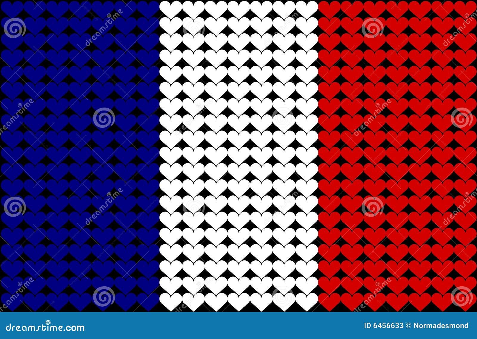 France bandery serce