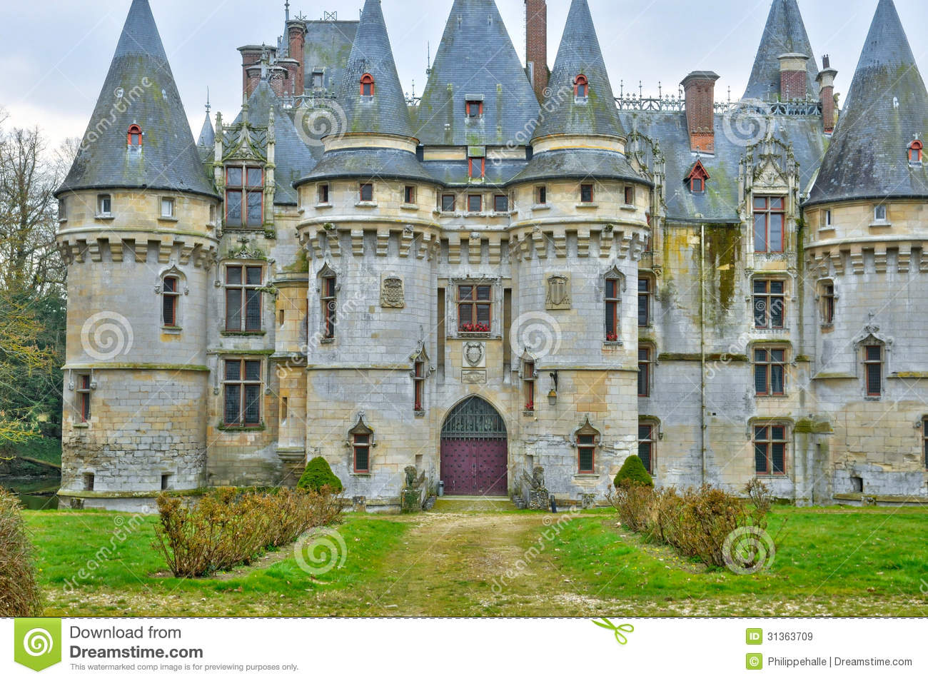 france the castle of vigny in val d oise stock image image 31363709. Black Bedroom Furniture Sets. Home Design Ideas