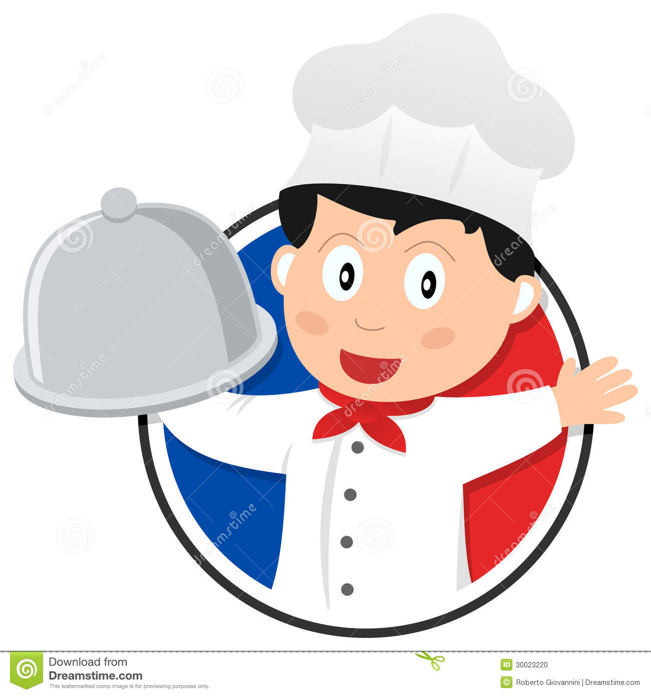 French Cuisine Chef Logo Vector Illustration : CartoonDealer.com ...