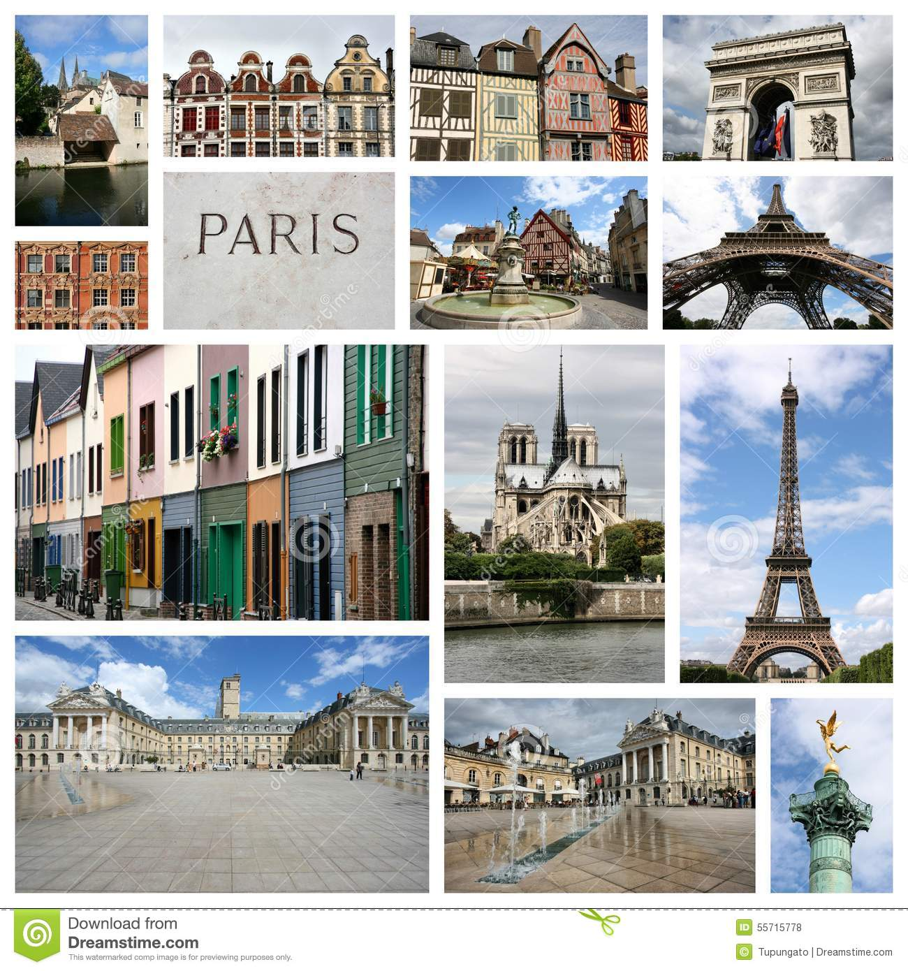 France Collage Stock Photo Image 55715778