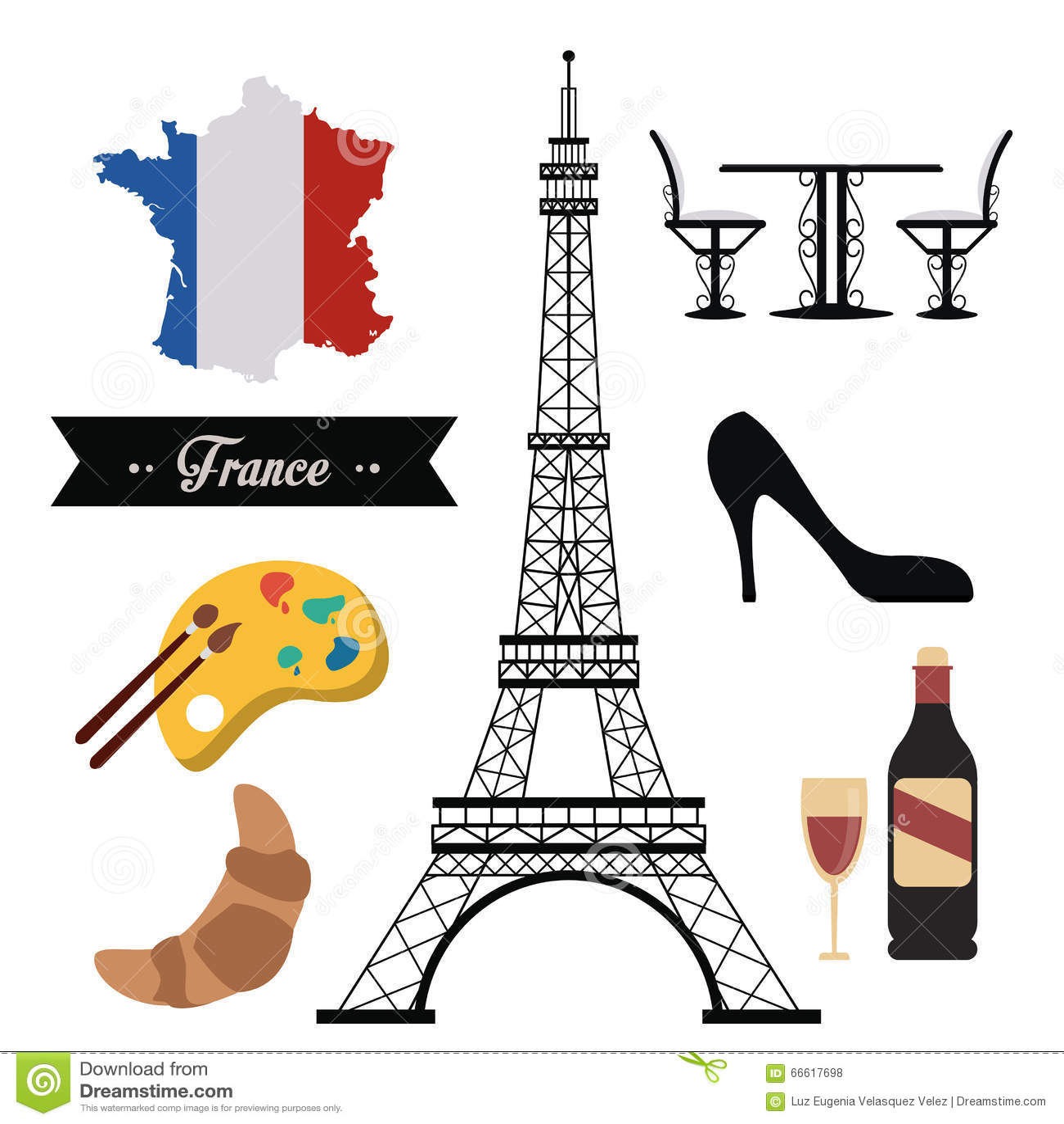 France Culture Design Stock Vector Illustration Of Wine
