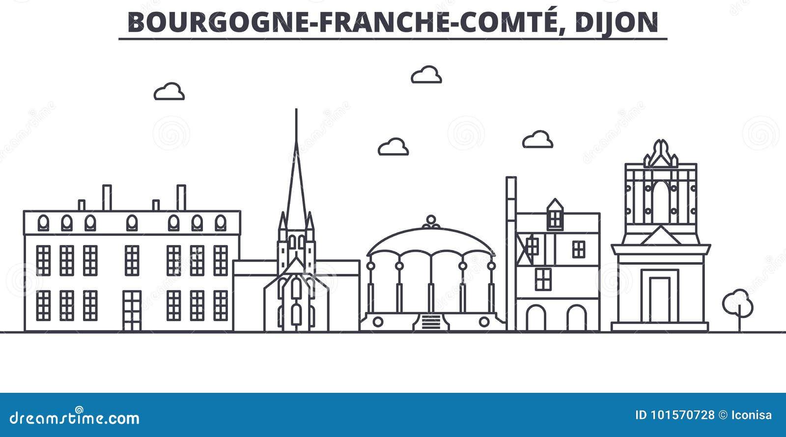France dijon architecture line skyline illustration for Dijon architecture