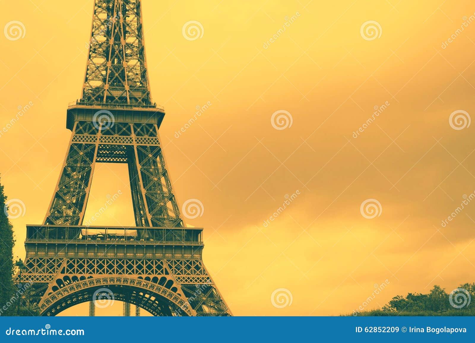 France Eiffel Tower Background Stock Photo Image 62852209