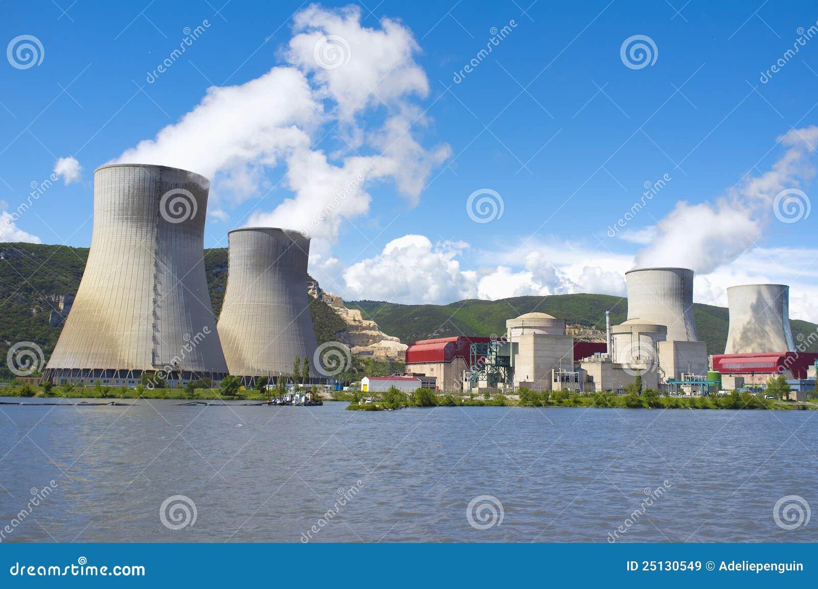 France elektrowni nuklearnej władzy Rhone rzeka