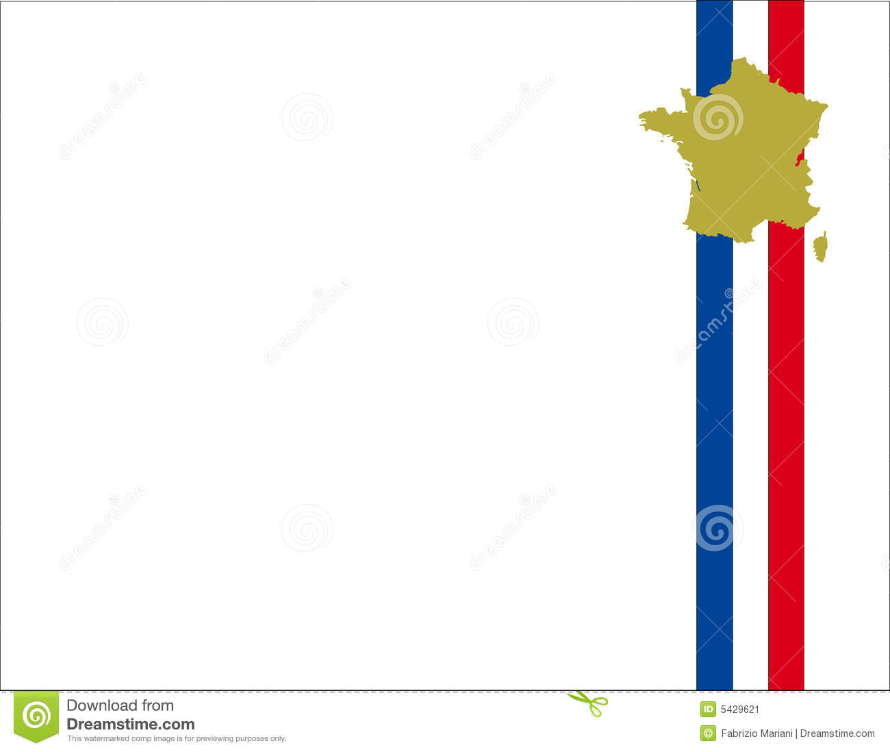 France Flag Background And Map Stock Vector