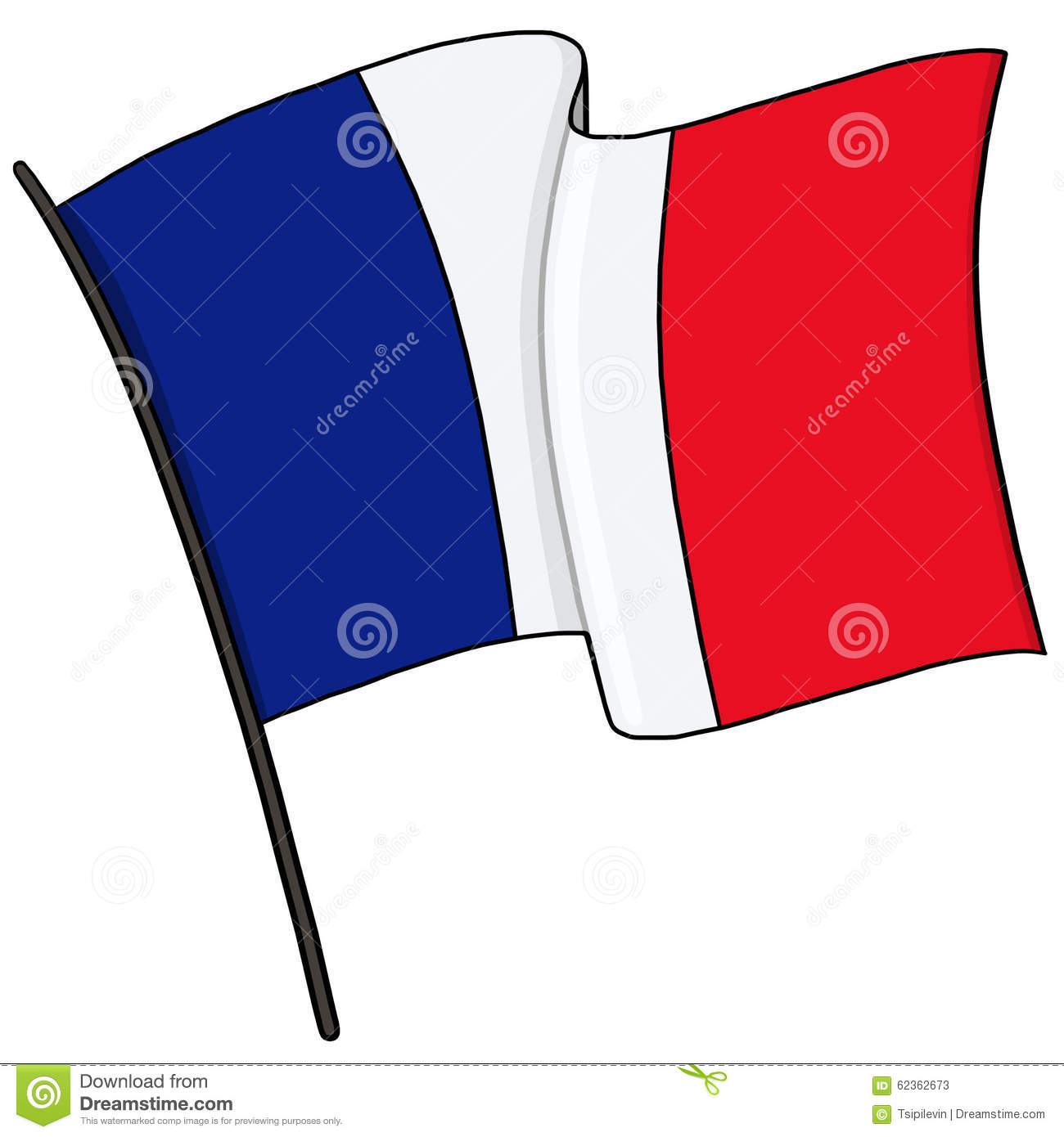 how to draw the french flag