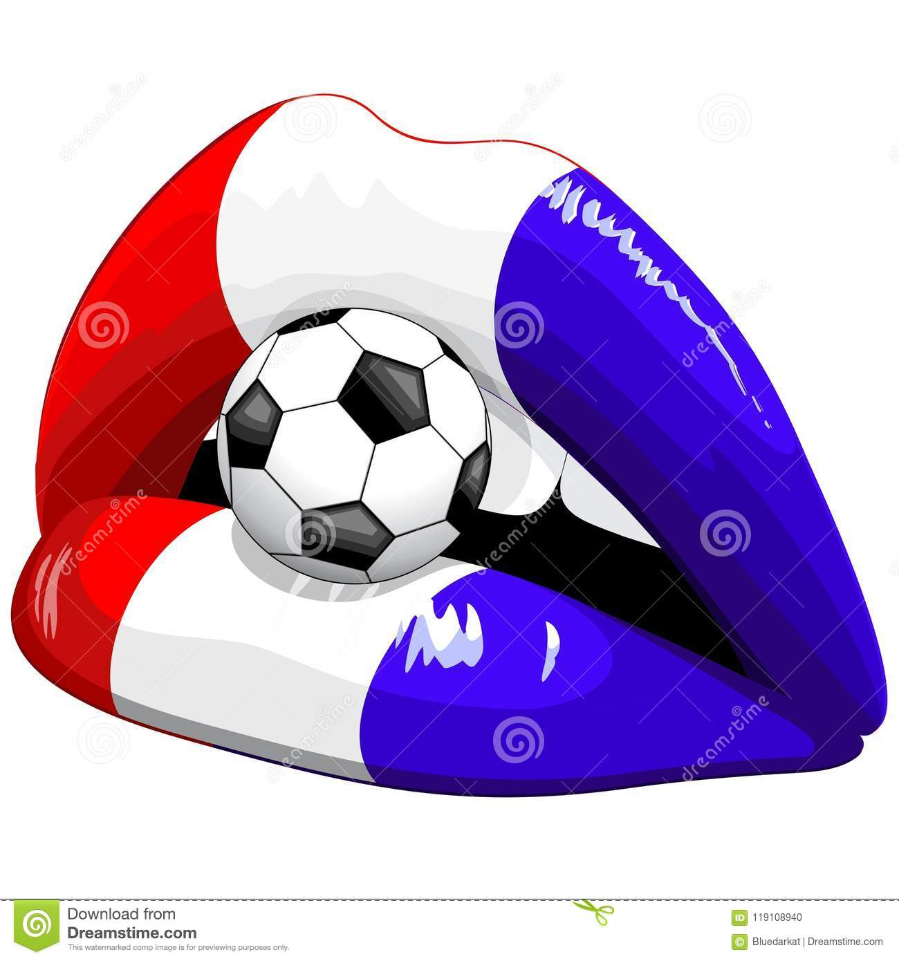 Download France Flag Lipstick Soccer Supporters Stock Vector - Illustration of country, national: 119108940