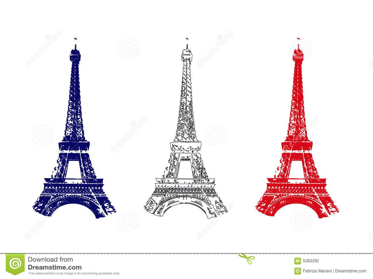 france flag with tour eiffel stock photography image 5363292