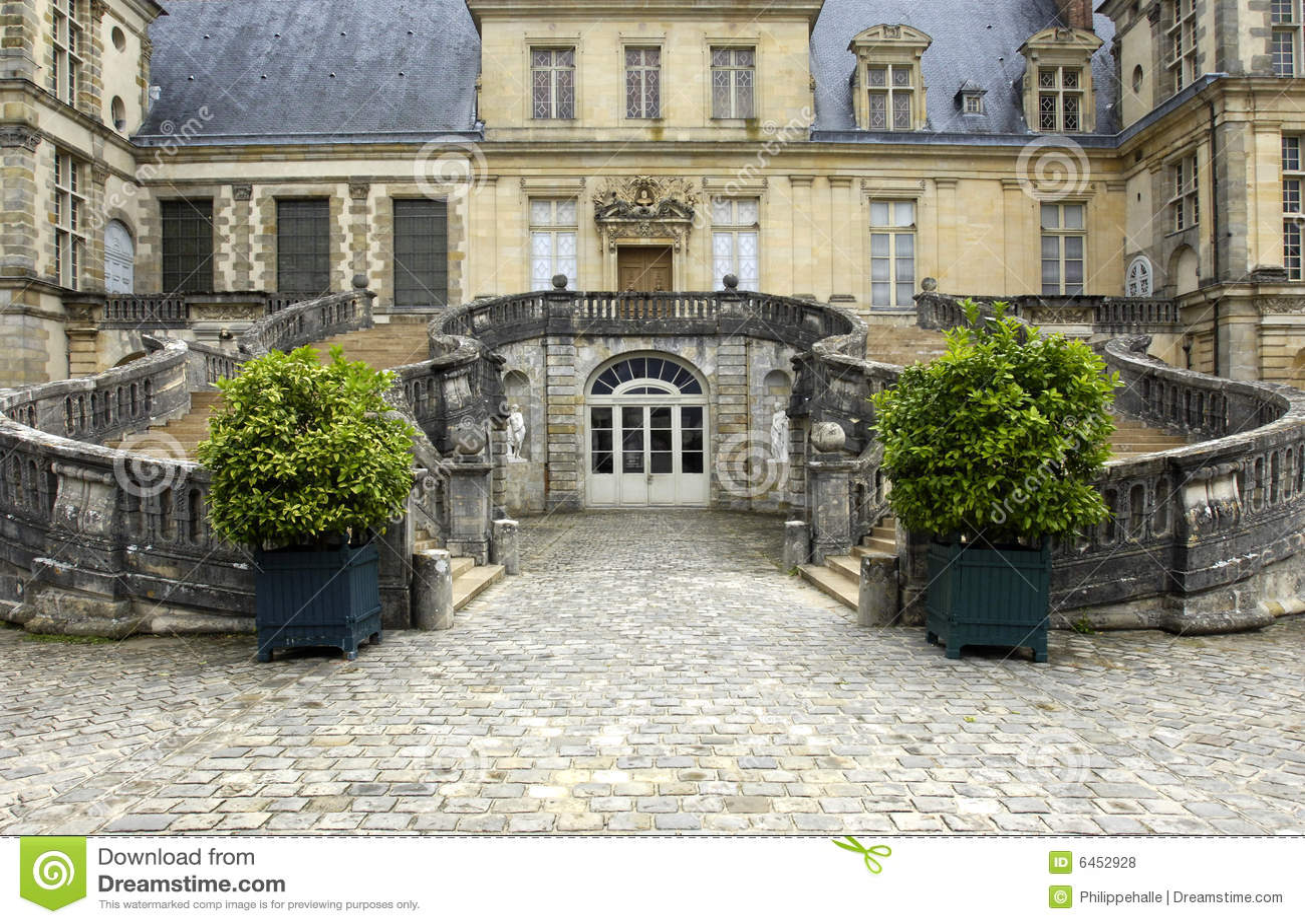 France fontainebleau pałacu.