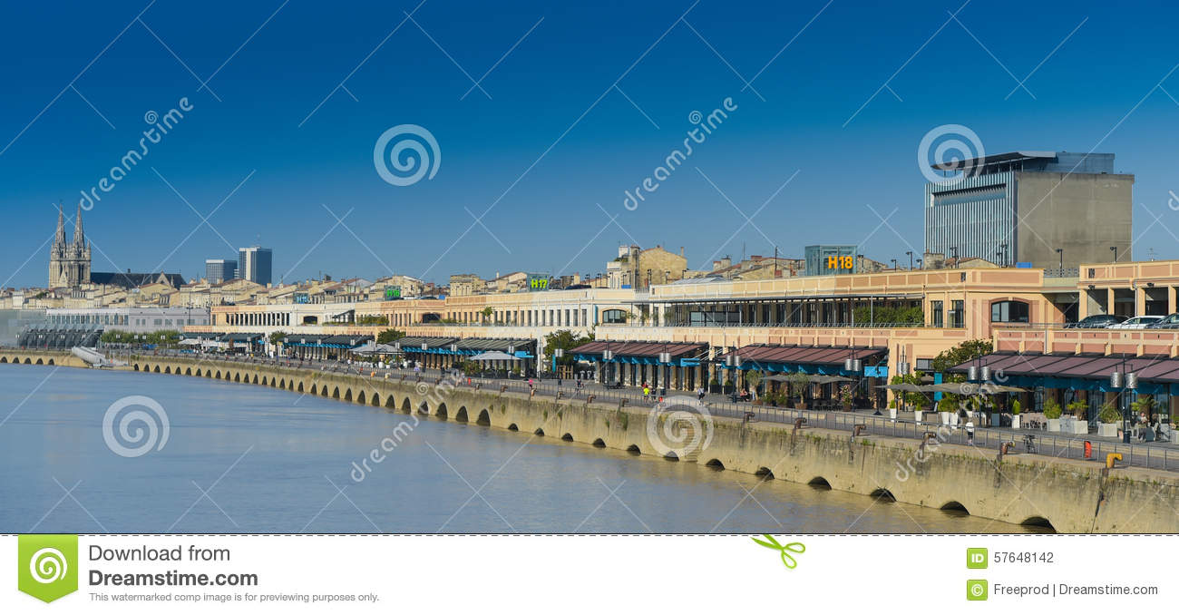 France, Gironde, Bordeaux, area listed as World Heritage by UNES
