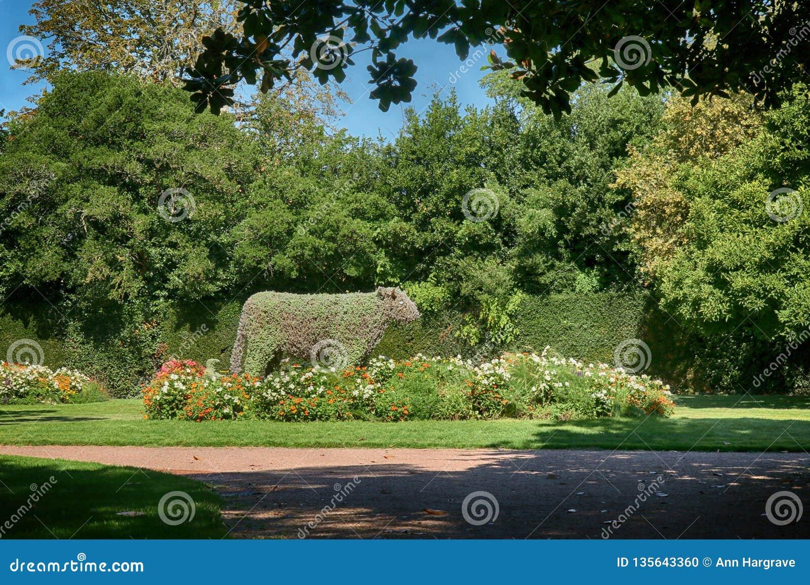 Lucon France Jardin Dumaine Vendee Region Public Gardens Stock