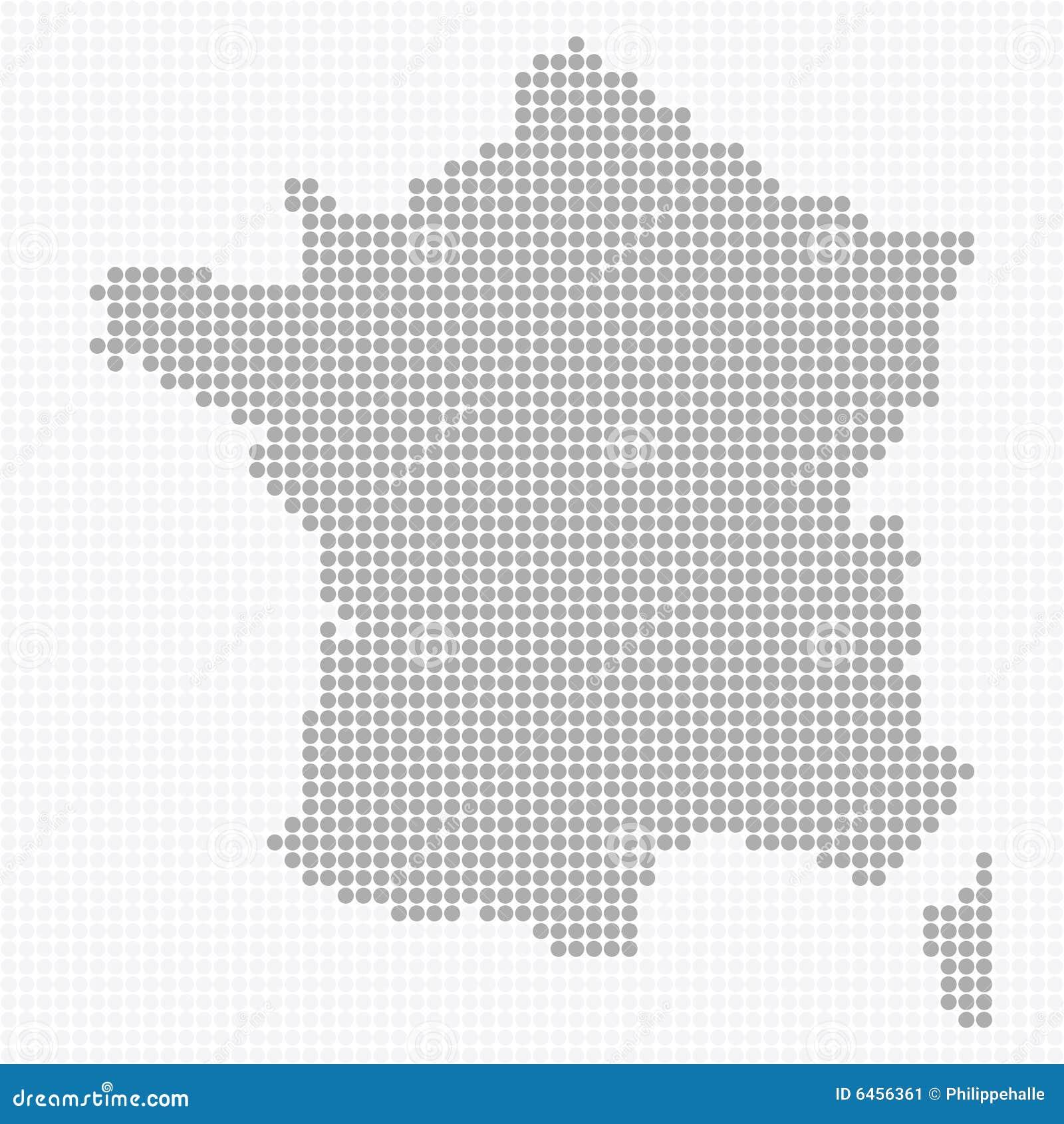 France kropkowana mapa