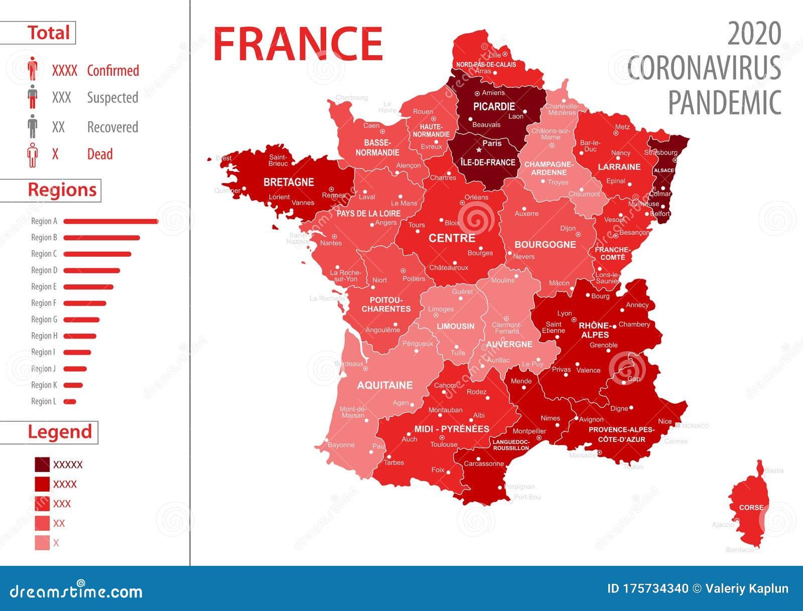 Frankreich Corona Karte Aktuell