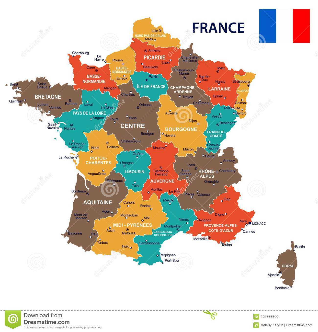 France Map Flag.France Map And Flag Illustration Stock Illustration Illustration