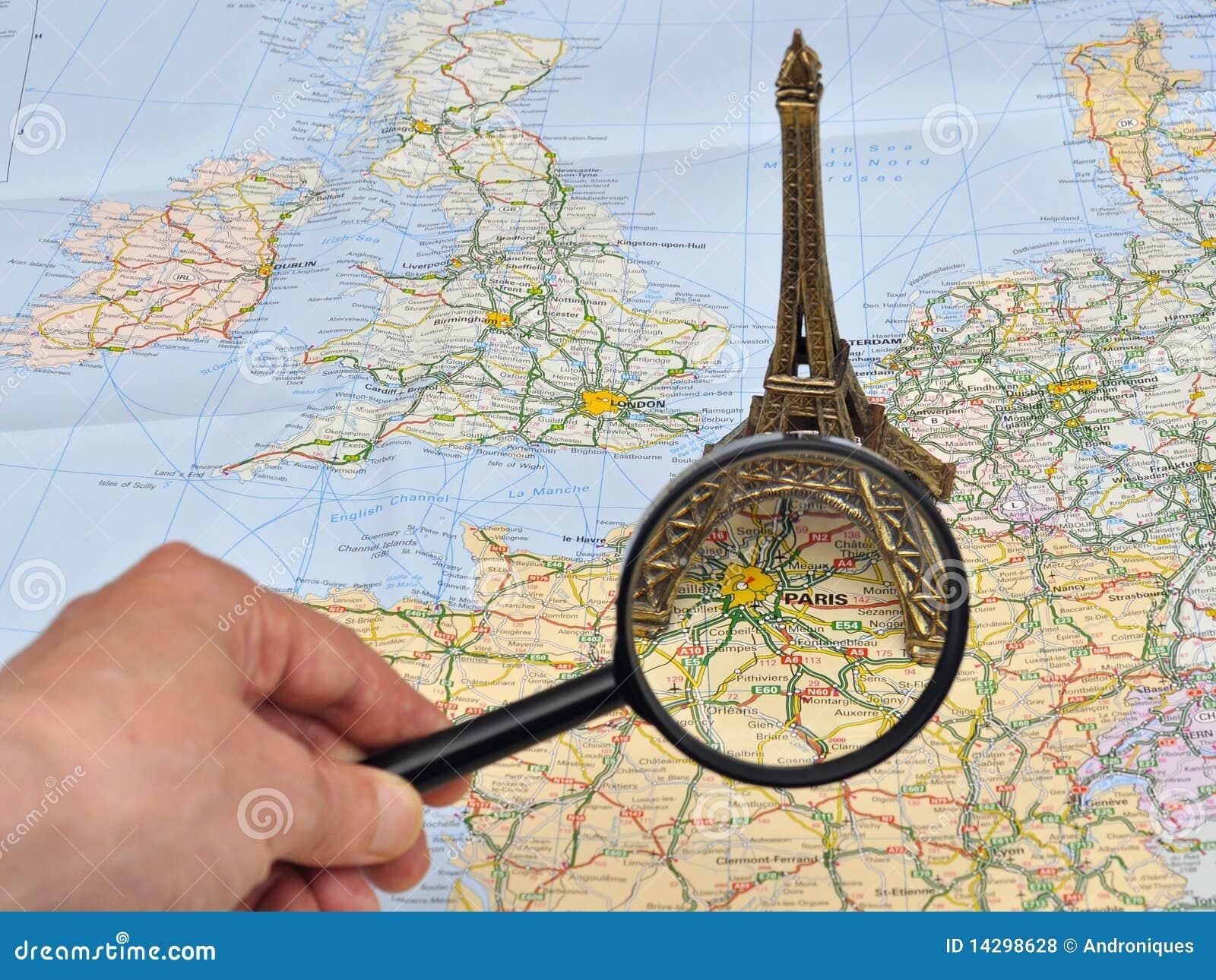 Map Of France Eiffel Tower.France Map Miniature Souvenir Eiffel Tower Paris Stock Photo