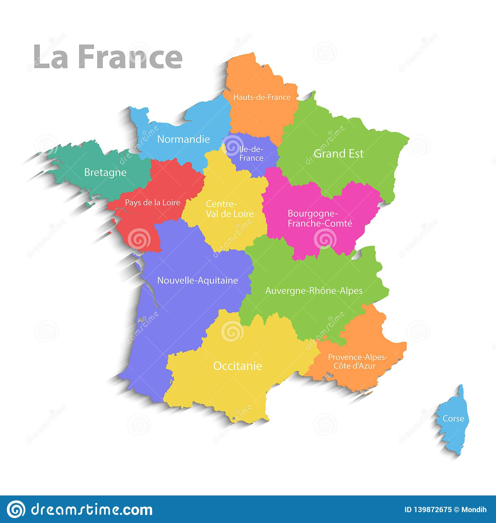 Detailed Map Of France Regions.France Map New Political Detailed Map Separate Individual Regions