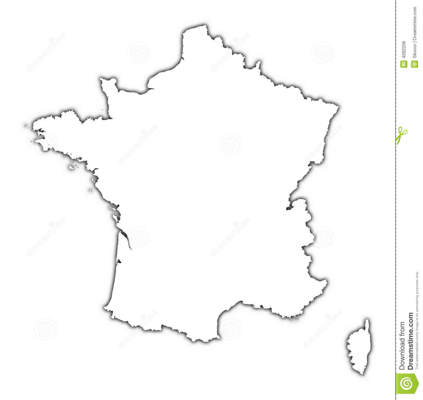 france map with shadow royalty free stock image image