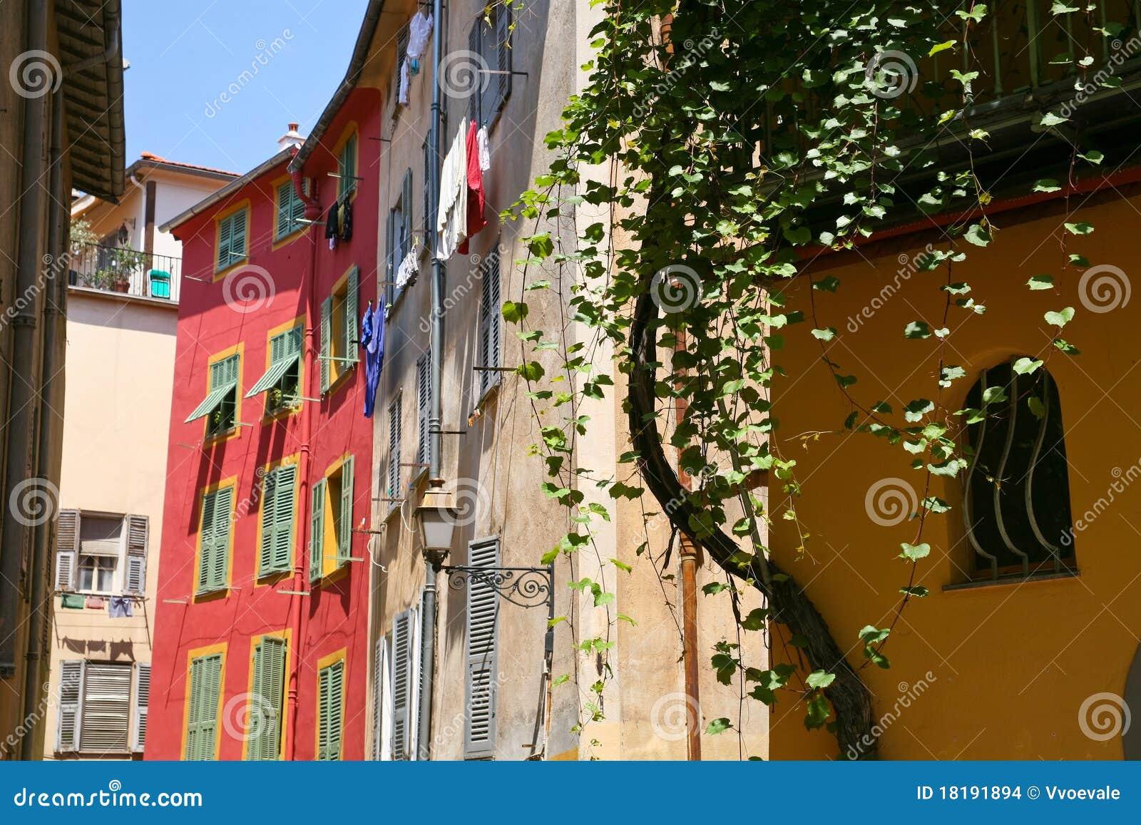 France miasteczko południowy uliczny