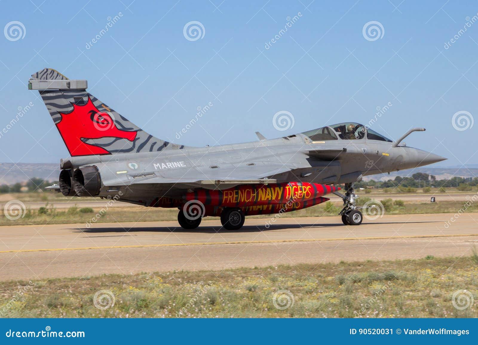 France Navy Dassault Rafale Fighter Jet Airplane Editorial