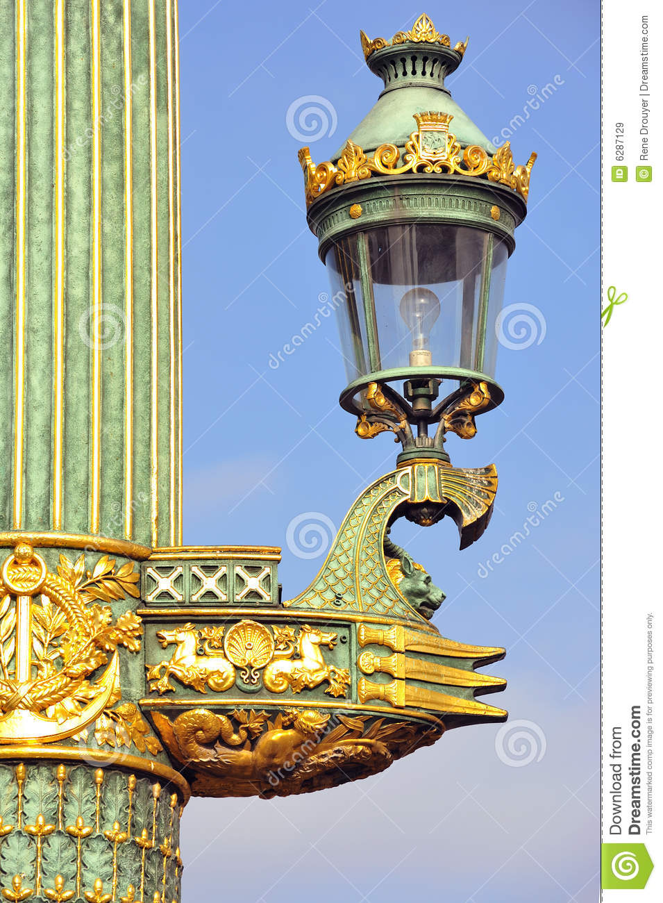 France Paris Old Lamp Post Stock Image Image 6287129