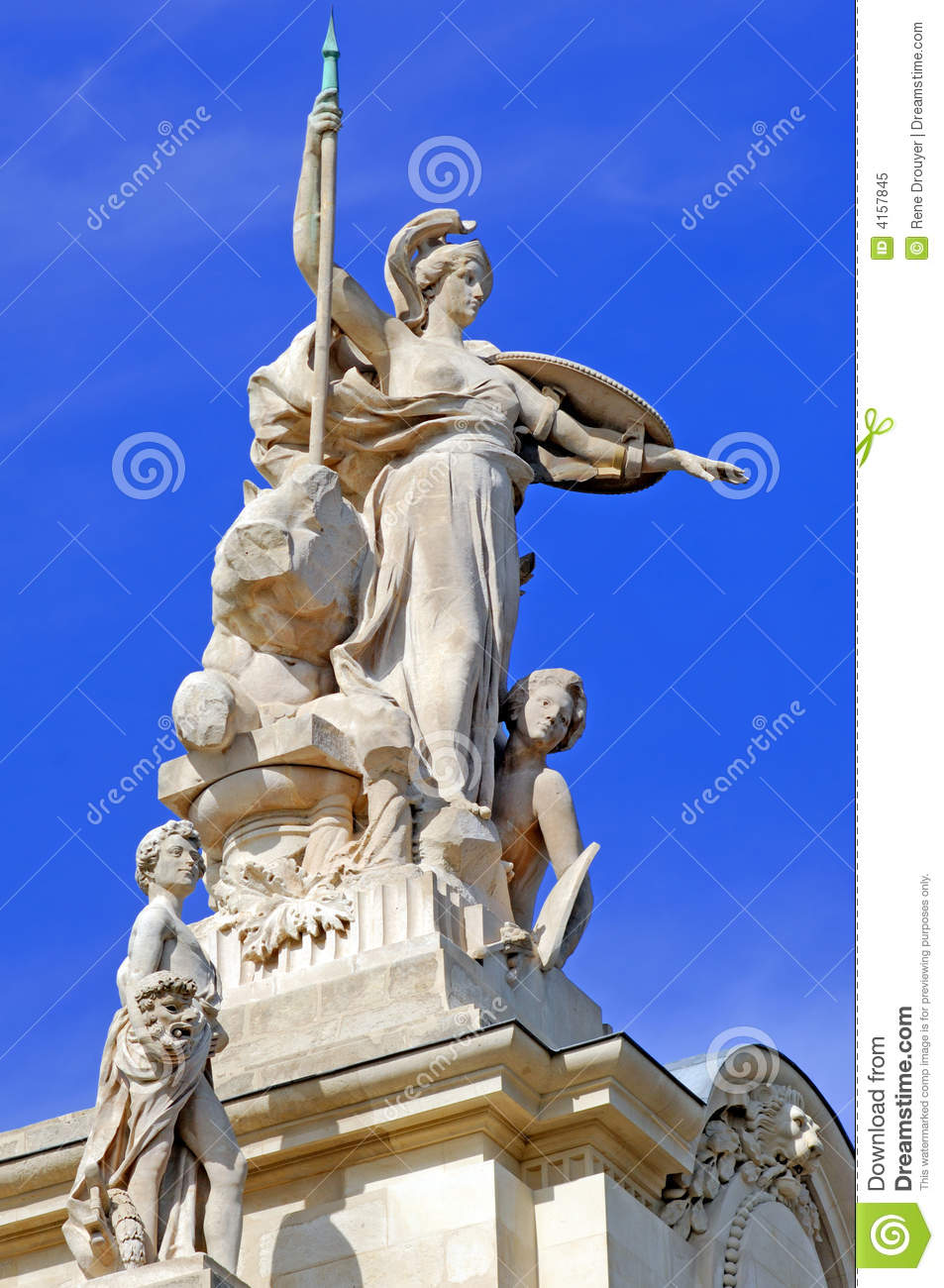 France Paris Statue Grand Palais Stock Image Image Of