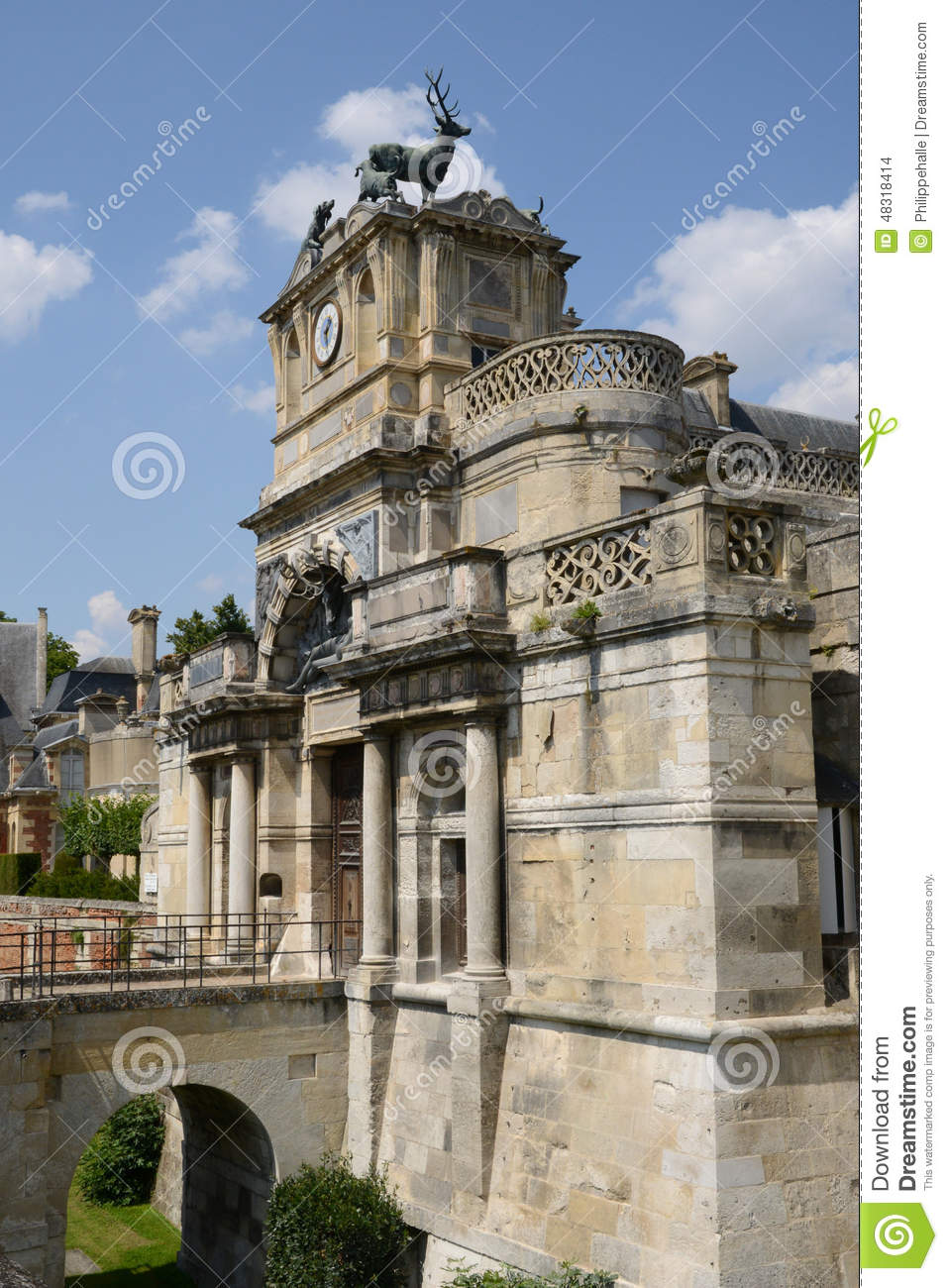 France The Picturesque City Of Anet Editorial Stock Image Image