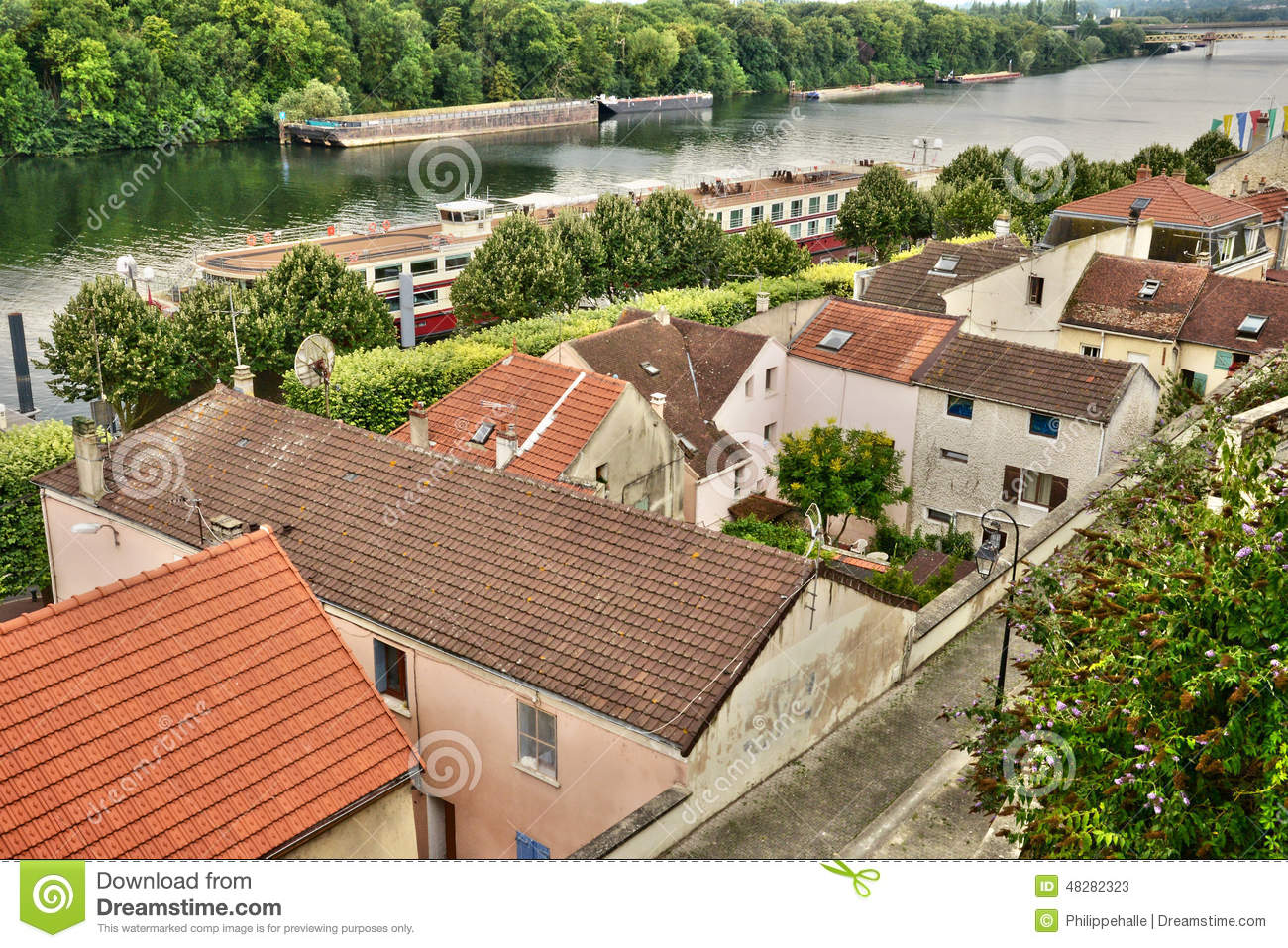 france the picturesque city of conflans sainte honorine editorial stock photo image 48282323. Black Bedroom Furniture Sets. Home Design Ideas