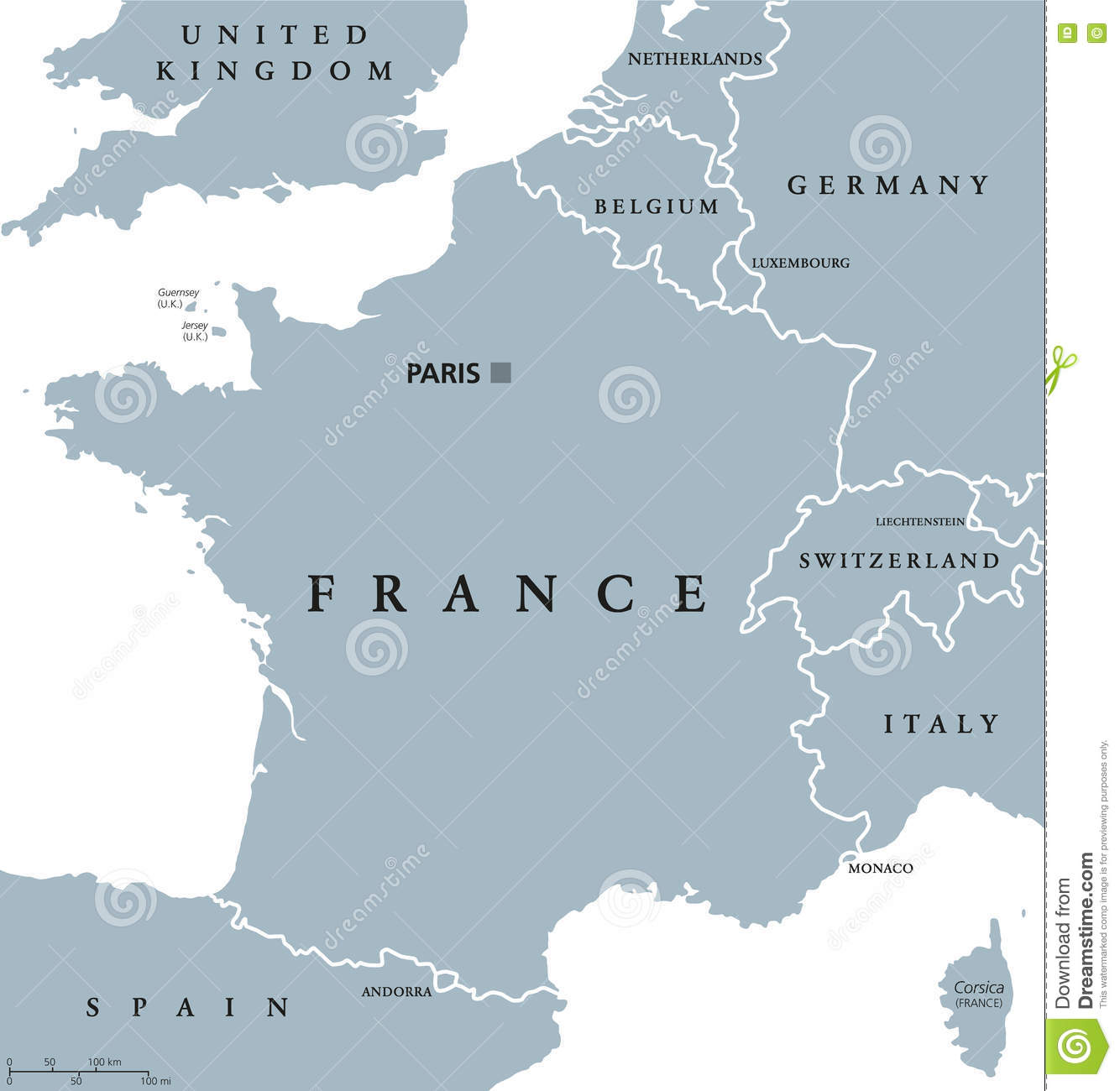 Map Of France In English.France Political Map Stock Vector Illustration Of Switzerland