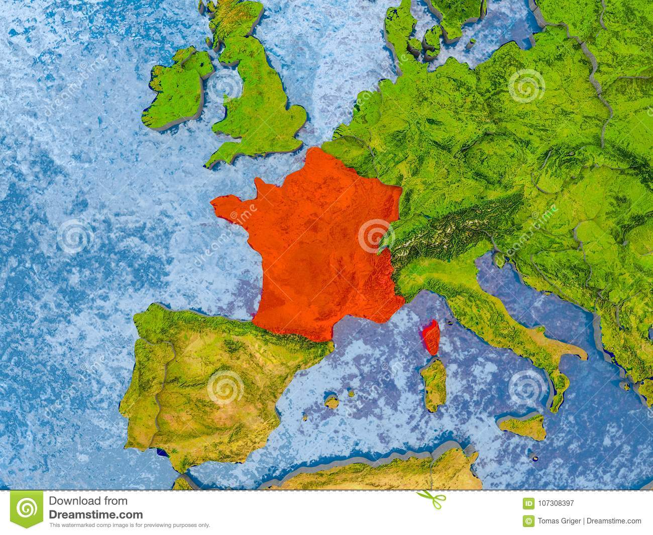 Country Map Of France.Map Of France Stock Image Image Of Europe Concept 107308397