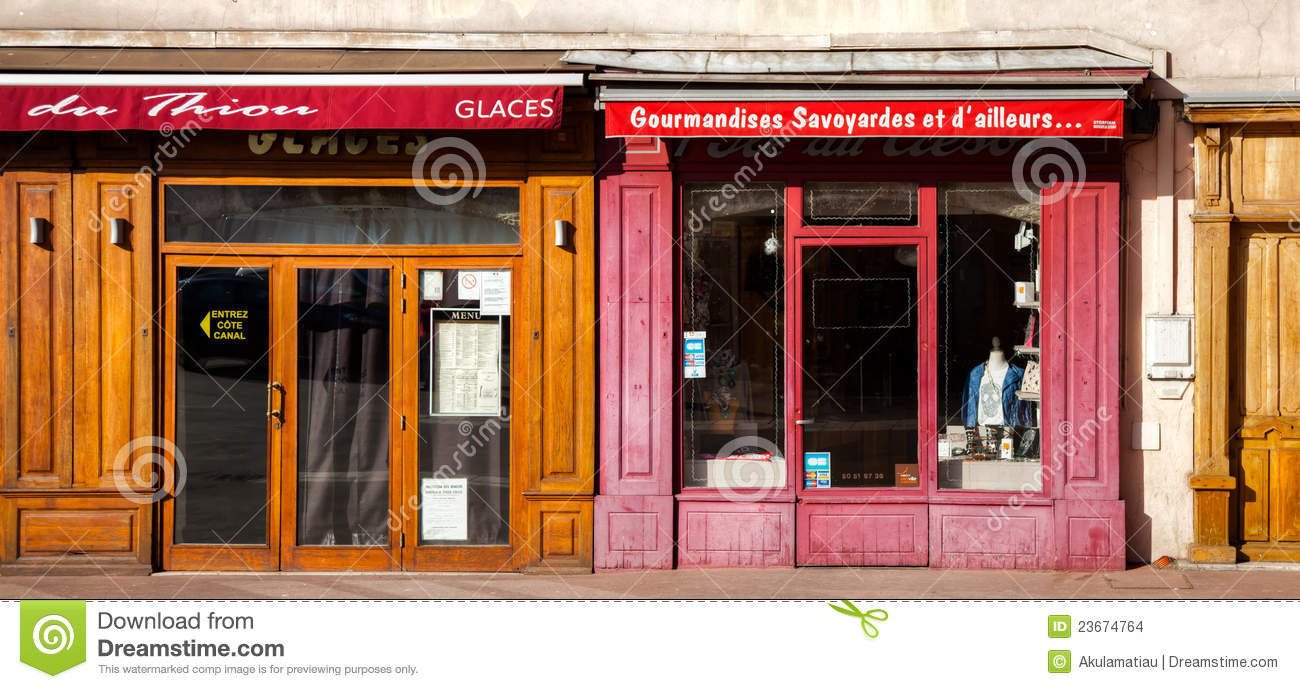 France retail shops entrance editorial stock image image - Boutique free annecy ...