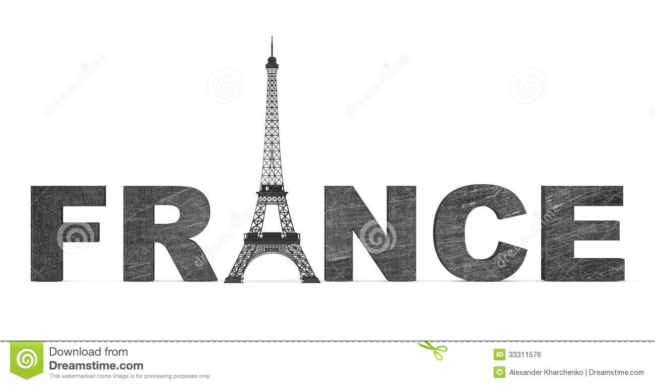 France Tourism Concept Sign With Eiffel Tower