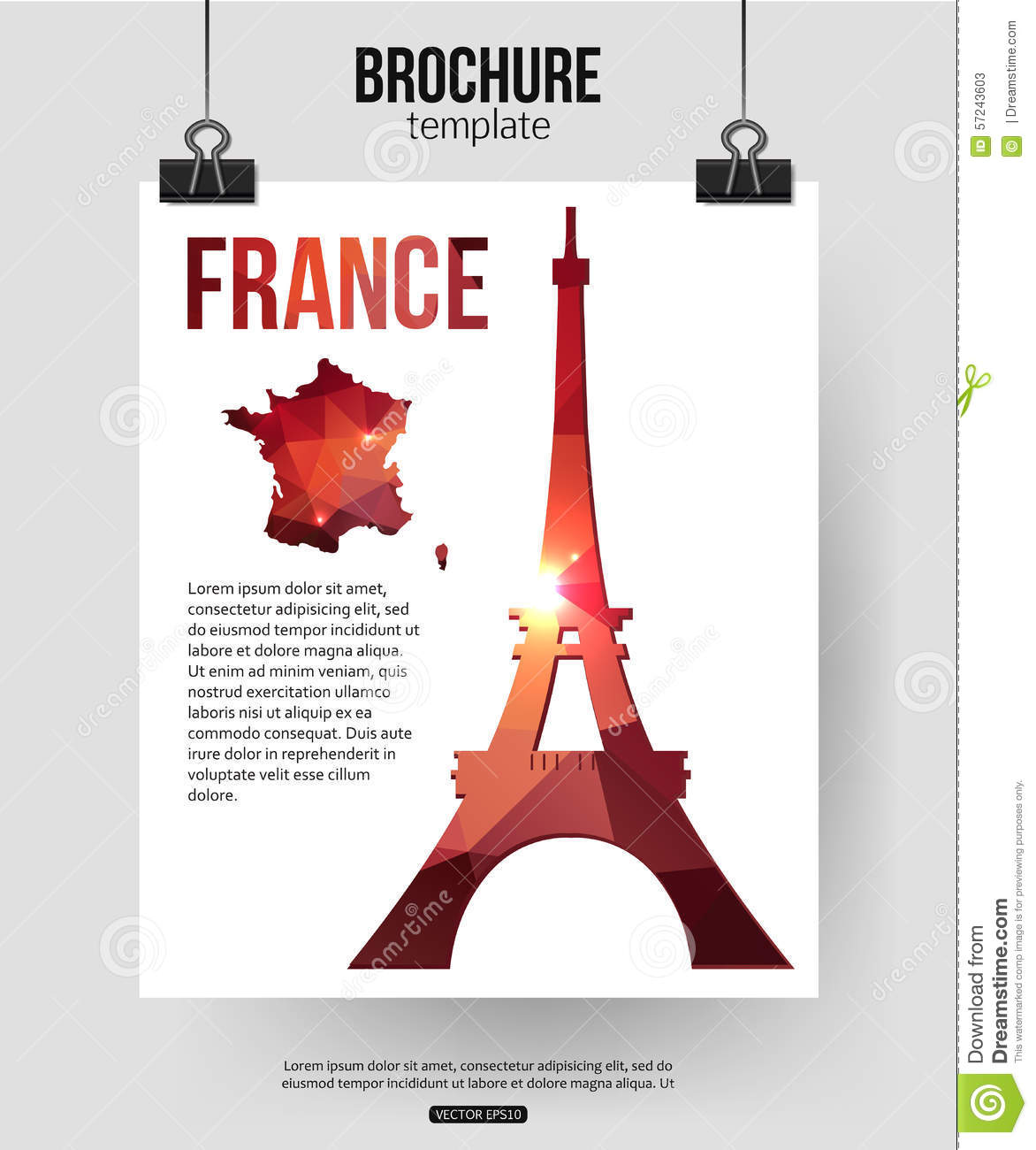 how to write a brochure about a place