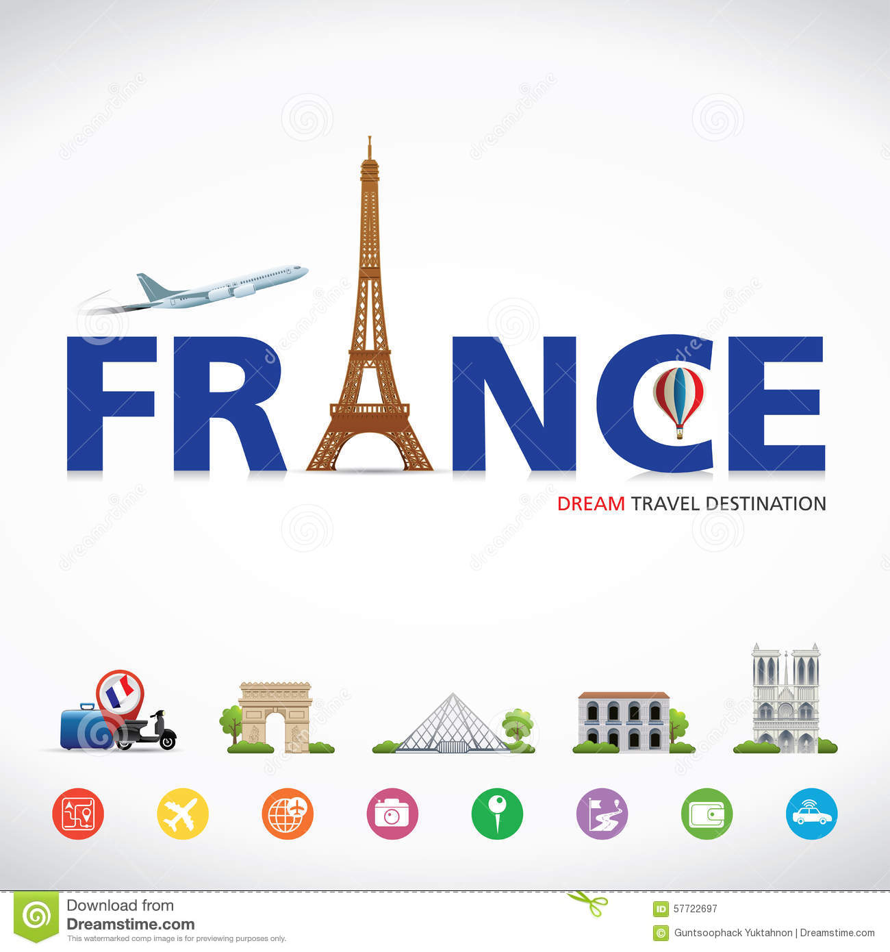 France Travel Dreams Destination Symbols Of